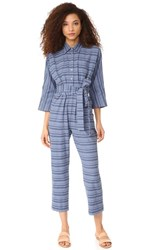 Mara Hoffman Drop Sleeve Jumpsuit Denim Multi