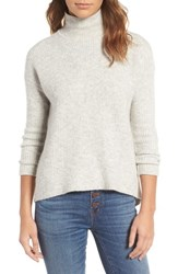 Madewell Women's Wafflestitch Turtleneck Sweater Heather Cement
