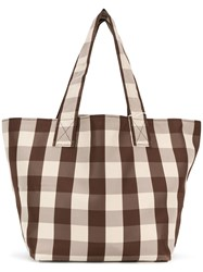 Trademark Small Gingham Grocery Tote Brown