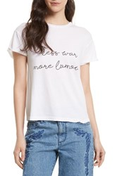 Rebecca Minkoff Women's Marley Graphic Tee White