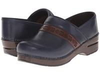 Dansko Penny Navy Full Grain Women's Clog Shoes Blue