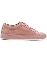 Etq Amsterdam Etq. Low Top Lace Up Sneakers Leather Suede Rubber Pink Purple