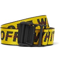 Off White 3.5Cm Yellow Industrial Canvas Belt Yellow