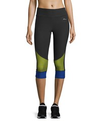 X By Gottex Colorblock Capri Leggings Black Blue