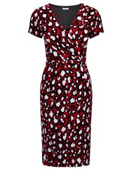 Planet Red Animal Print Jersey Dress Multi Coloured