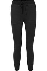 James Perse Cotton Blend Jersey Track Pants Black