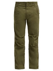 Mhi Original Snopants Mountain Embroidered Trousers Green