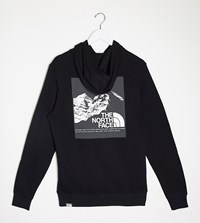 The North Face Back Graphic Hoodie In Black Exclusive At Asos