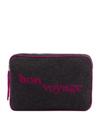 Sofia Cashmere Bon Voyage Travel Set Charcoal