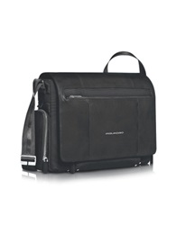 Piquadro Link 15 Laptop Messenger Bag Black