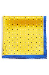 Men's Robert Talbott Dot Silk Pocket Square