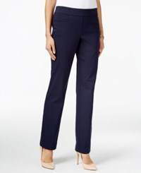 Jm Collection Pull On Slim Leg Pants Only At Macy's Navy