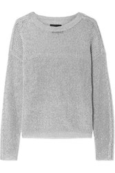 Rta Rhys Metallic Knitted Sweater Silver