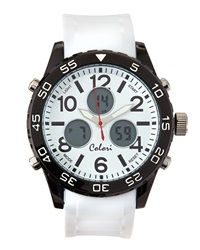 Colori Watches Digital Sports Chronograph Watch White
