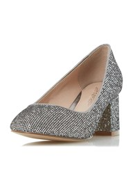 Dorothy Perkins Head Over Heels By Dune 'Agnitha' Pewter Mid Heel Shoes