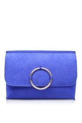 Kurt Geiger Hoop Blue Clutch Handbag By Miss Kg Blue