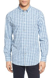Ted Baker Men's London Tripup Extra Trim Fit Check Sport Shirt Teal