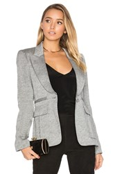 Smythe Peaked Lapel Inverted Pleat Pocket Blazer Gray