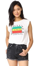 Pam And Gela 'Rule Over Things With Love' Tee White