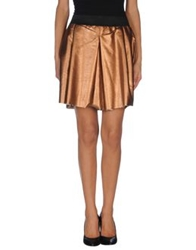 Jijil Mini Skirts Copper