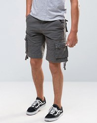 Bellfield Military Style Cargo Shorts Green