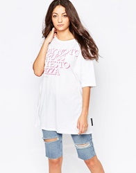 Criminal Damage Say Yes To Pizza T Shirt White