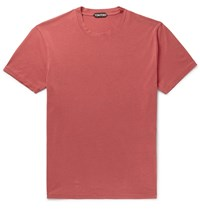 Tom Ford Lyocell And Cotton Blend Jersey T Shirt Red