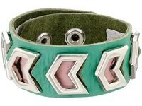 Gypsy Soule Leather Arrow Cutout Bracelet Turquoise Bracelet Blue