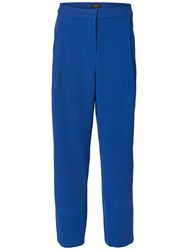 Selected Femme Laya Cropped Trousers Mazarine Blue