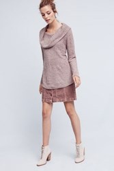Anthropologie Lucerne Off The Shoulder Tunic Taupe