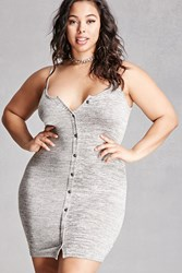 Forever 21 Plus Size Marled Cami Dress Grey
