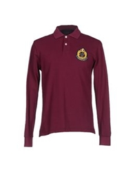 Brooksfield Polo Shirts Garnet