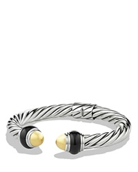 David Yurman Cable Classics Bracelet With Gold Domes And Black Onyx Silver Multi