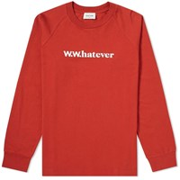 Wood Wood Long Sleeve Han Whatever Tee Red