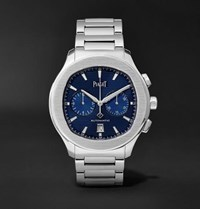 Piaget Polo S Chronograph 42Mm Stainless Steel Watch Blue
