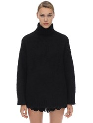 N 21 Oversized Mohair And Wool Turtleneck Black