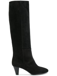 Via Roma 15 Panelled Boots Black