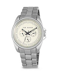 Ted Baker Round Stainless Steel Bracelet Watch Silver