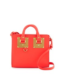 Sophie Hulme Albion Box Tote Bag Coral Red