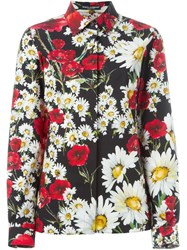 Dolce And Gabbana Daisy And Poppy Print Shirt Multicolour