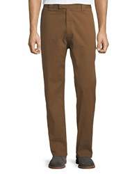 Salvatore Ferragamo Straight Leg Stretch Cotton Workman Trousers Rust