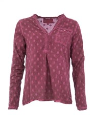 Garcia Cotton Dotted Blouse Purple