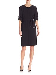 Hugo Boss Hamika Self Tie Dress Black