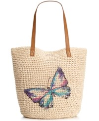 Styleandco. Style And Co. Butterfly Straw Tote Only At Macy's