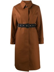Mackintosh Belted Button Up Trench Coat Brown