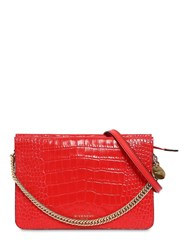 Givenchy Cross3 Croc Embossed Leather Bag Red