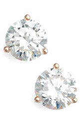 Nordstrom Women's Precious Metal Plated 4Ct Tw Cubic Zirconia Earrings Rose Gold