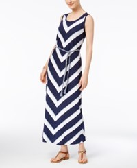 Style And Co Petite Chevron Striped Maxi Dress Only At Macy's Freedom Column