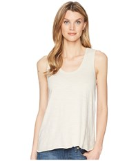 Lilla P Seamed Scoop Tank Top Stucco Sleeveless Khaki