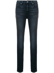Paige Low Rise Skinny Jeans Blue